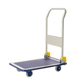 Cărucior tip platformă Prestar, pliabil, de oțel, capacitate de încărcare 150 kg
