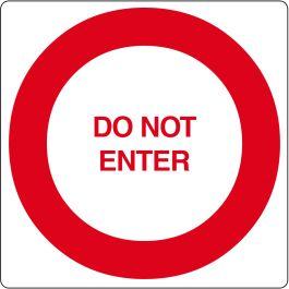 """Pictogramă de podea pentru """"Do Not Enter"""""""