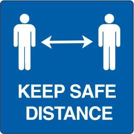 """Pictogramă de podea pentru """"Keep safe distance"""""""
