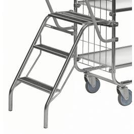 Scară pliabilă Kongamek pentru cărucior cu rafturi KM8000
