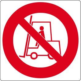 """Pictogramă de podea pentru """"Interzis accesul stivuitoarelor"""""""