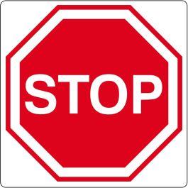 """Floor pictogram for """"Stop"""""""