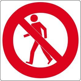 """Pictogramă de podea pentru """"Interzis accesul pietonilor"""""""