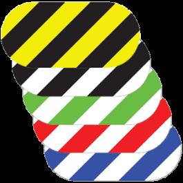Formă ovală, cu dungi