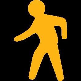 Pictogramă pietonală pentru marcarea podelelor, anti-alunecare