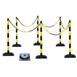 Set stâlpi cu lanț din plastic (PE)