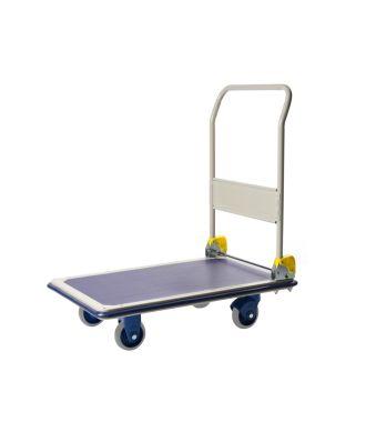 Cărucior tip platformă Prestar, pliabil, de oțel, capacitate de încărcare 300 kg