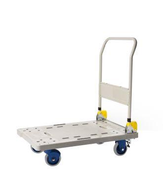 Cărucior tip platformă Prestar, pliabil, din plastic, capacitate de încărcare 300 kg