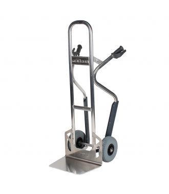 Cărucior manual de aluminiu Matador NST250CT cu roți pentru scări; capacitate de încărcare 350 kg