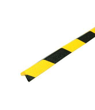 Bară de protecție PRS pentru colțuri, model 45 – galben/negru – 1 metru