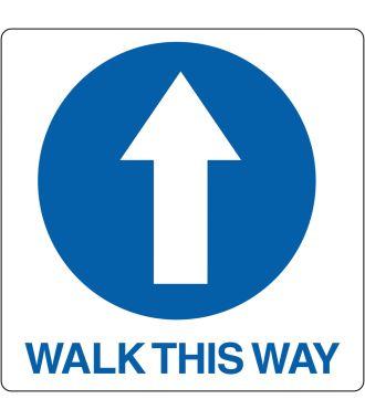 "Pictogramă de podea pentru ""Walk This Way"""