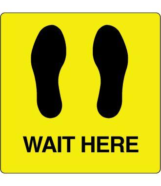 """Pictogramă de podea pentru """"Wait Here"""""""