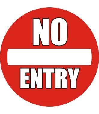 """Pictogramă de podea antiderapantă: """"No Entry"""""""