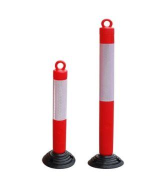 Stâlp de parcare oscilant flexibil cu inel pentru lanț