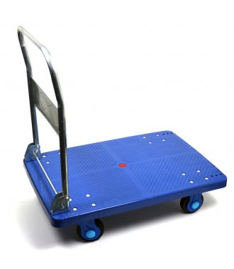Foldable plastic platform trolley, load capacity 300 kg