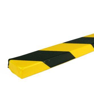 Bară de protecție PRS pentru suprafețe plane, model 43 –galben/negru – 1 metru