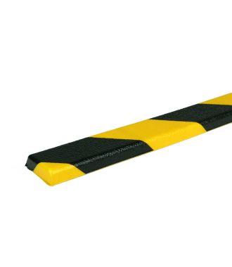 Bară de protecție PRS pentru suprafețe plane, model 44 – galben/negru – 1 metru