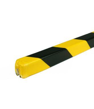 Bară de protecție PRS pentru margini, model 9 – galben/negru – 1 metru
