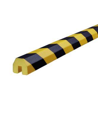 Bară de protecție pentru margini Knuffi, tip BB – galben/negru – 5 metru
