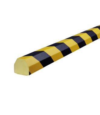 Bară de protecție Knuffi pentru suprafețe plane, tip CC – galben/negru – 5 metru
