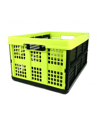 Ladă pliabilă - 46 de litri - lămâie verde și negru