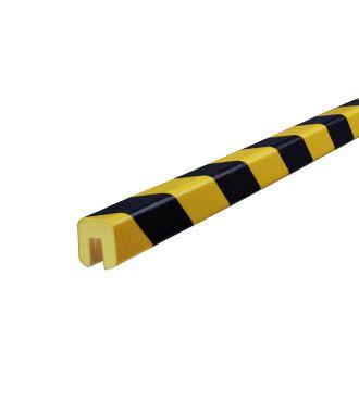 Bară de protecție pentru margini Knuffi, tip G – galben/negru – 5 metru