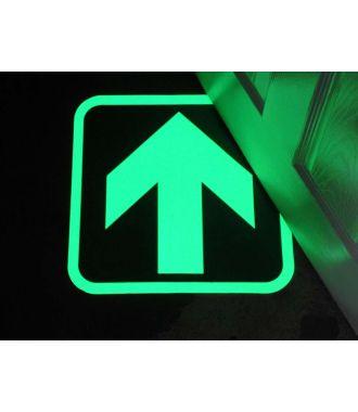 Săgeţi fotoluminescente pentru a indica căi de ieşire