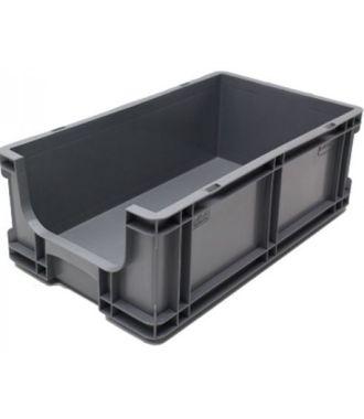 Container cu pereți drepți 260x505x165 mm, deschis în față