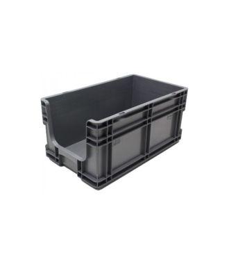 Container cu pereți drepți 260x505x210 mm, deschis în față