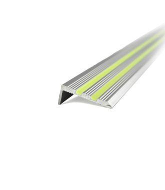 Profil fosforescent din aluminiu pentru trepte