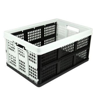 Ladă pliabilă - 46 de litri - gri deschis și negru