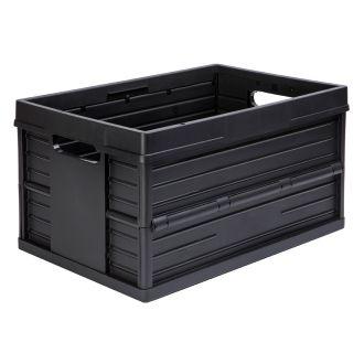 Ladă pliabilă Evo Box - 46 de litri, negru