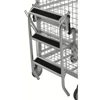 Scară pliabilă Kongamek pentru cărucior cu rafturi KM9000