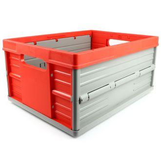 Ladă pliabilă - 32 de litri - roșu și gri
