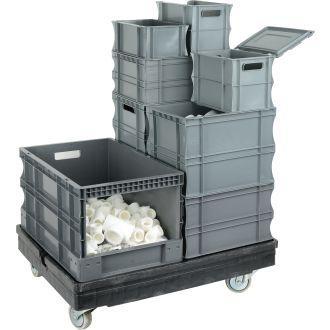 Containere de plastic cu pereții drepți