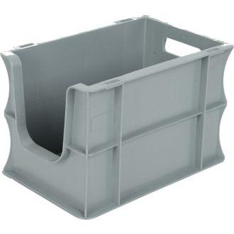 Container de tip euro-cutie cu pereți drepți 200x300x200 mm, deschis în față