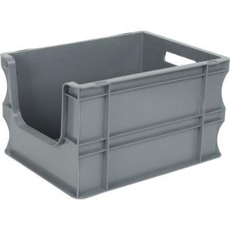 Container de tip euro-cutie cu pereți drepți 300x400x235 mm, deschis în față