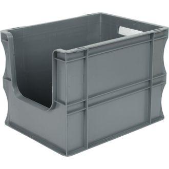 Container de tip euro-cutie cu pereți drepți 300x400x290 mm, deschis în față